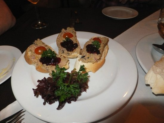 Riverview Hotel: Pate with blueberry