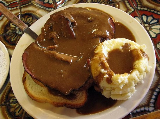 Ranch House Cafe: Beef and Mashed Potatoes with Gravy