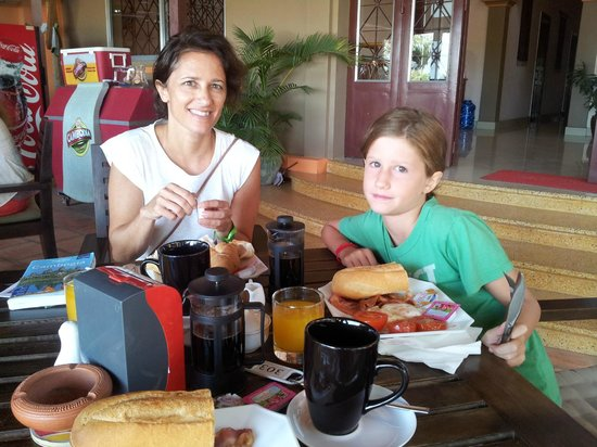 Kampot Riverside Hotel: colazione al Riverside Hotel
