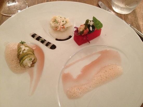 Elizabeth: One of our favorite dish with crab and watermelon