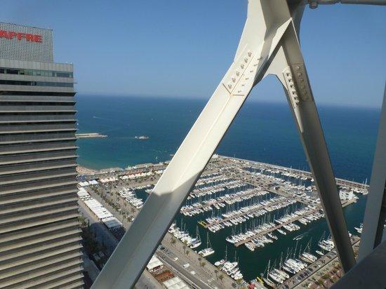 Hotel Arts Barcelona: marina & sea view