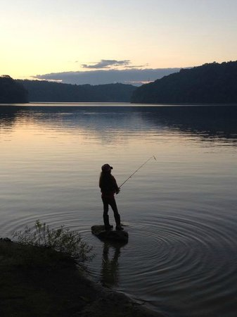 Salt Fork State Park: Trying for the last fish of the day.