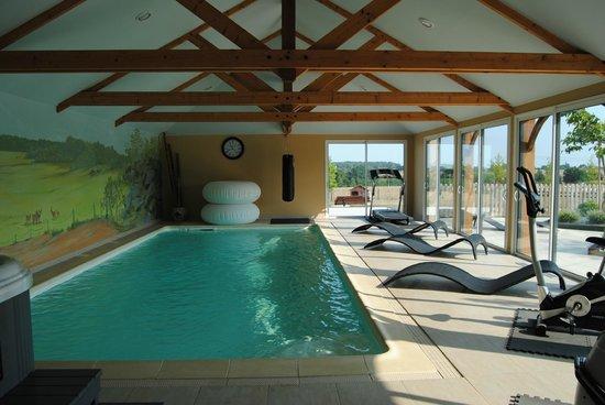 Maison d'hotes du Blavon: Espace piscine