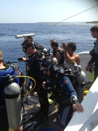 SEAWOLF - Divers: Almost ready to jump....