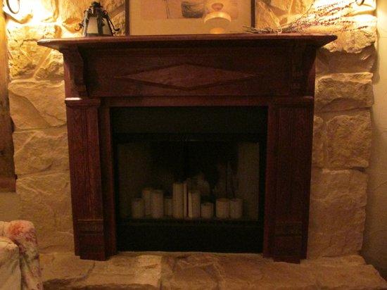 Winding Ridge Bed and Breakfast: Fireplace in bedroom