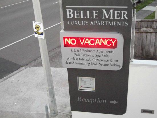 Belle Mer Apartments: The sign for Belle Mer