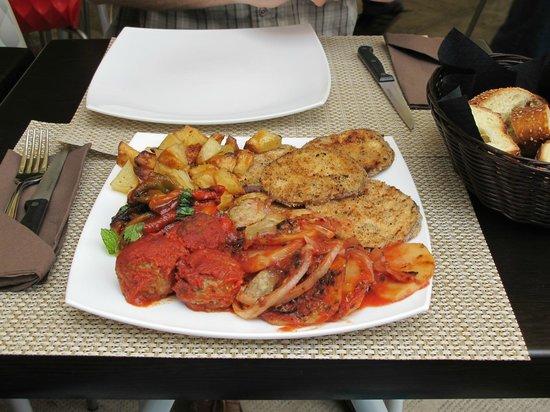 Talè: mixed vegetable platter