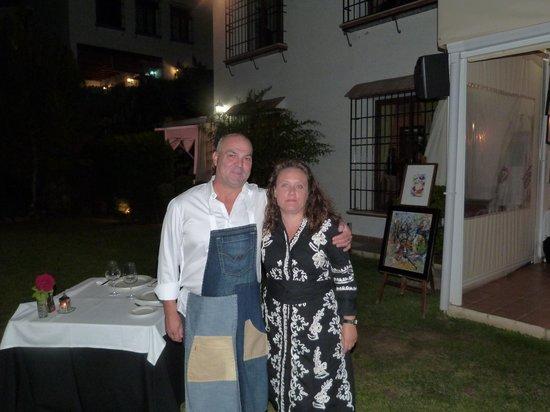 Restaurante Mirador de la Peana: le cuisinier et son épouse