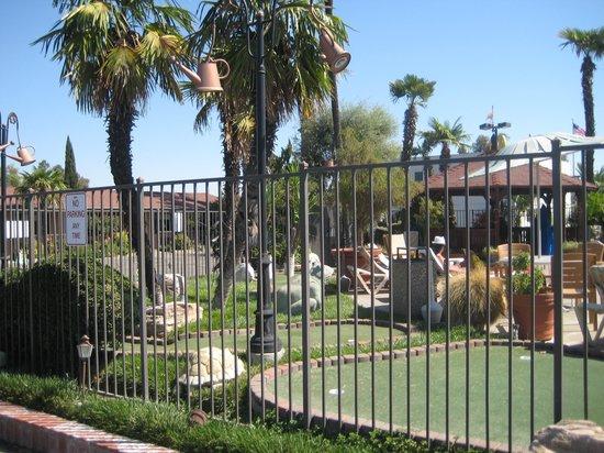 Adelaide Inn: Pool area, mini-golf
