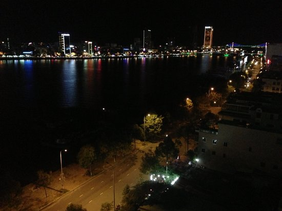 Danang Riverside Hotel: the view from my buddy's room