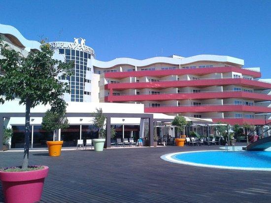 Solplay Hotel de Apartamentos: Vista desde la zona de hamacas