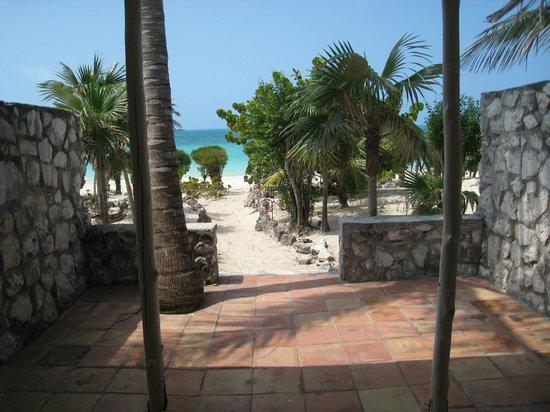 Fernandez Bay Village : vue depuis notre bungalow