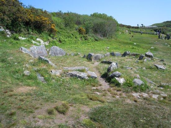 Drombeg Stone Circle: Area of hut