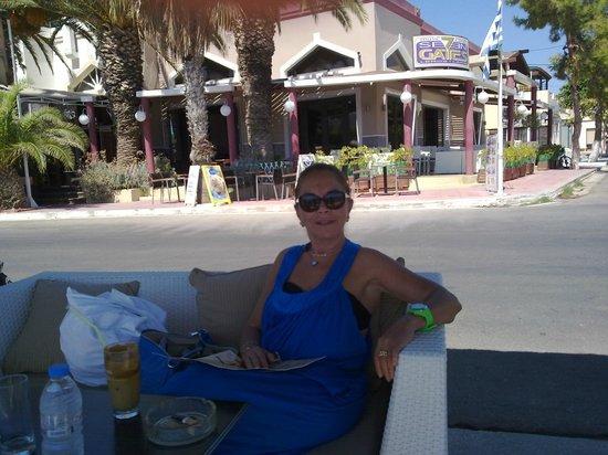 Castelo Beach Hotel: Nice Caffe  at Laki Leros