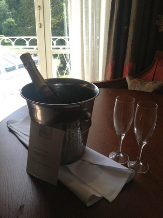 St Michael's Manor Hotel: Champagne in our room
