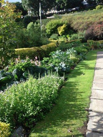 Visão do Castelo de Edimburgo desdo o East Princes Street Gardens ...