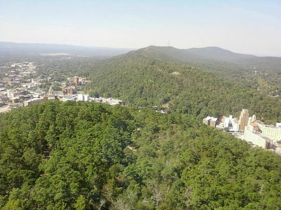 Hot Springs Mountain Tower: View of of Hot Springs