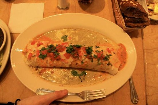 The Cheesecake Factory: My enormous burrito!