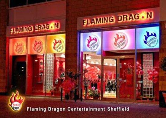 Flaming Dragon at the Centertainment Sheffield