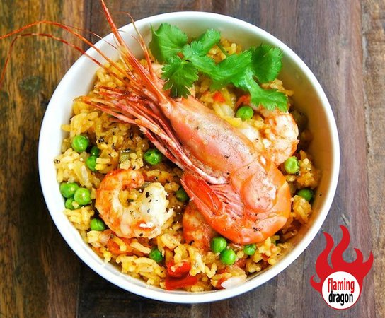 Flaming Dragon: Prawn Fried Rice