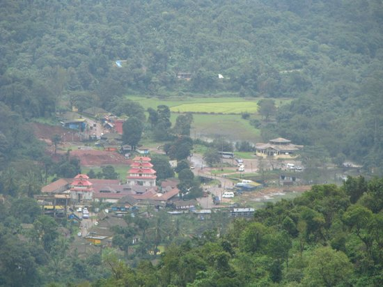 Omkareshwara Temple: temple from the top