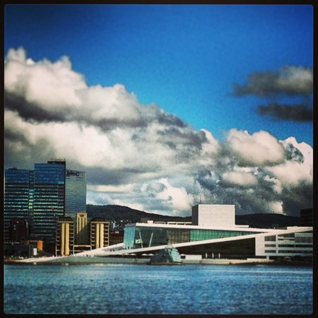 The Norwegian National Opera & Ballet: Оперный театр, вид с прогулочного кораблика