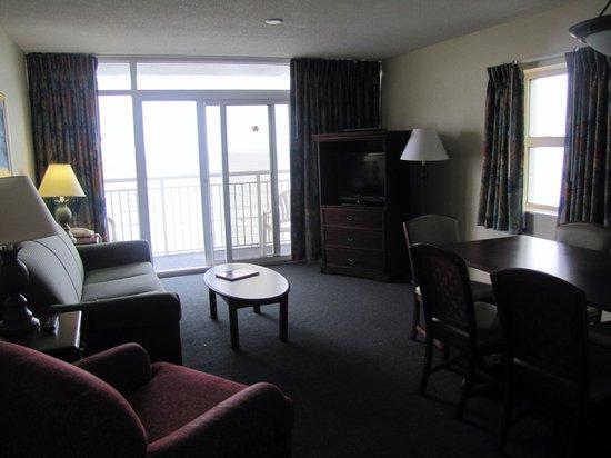 Atlantica Oceanfront Resort : Room #657- living room area