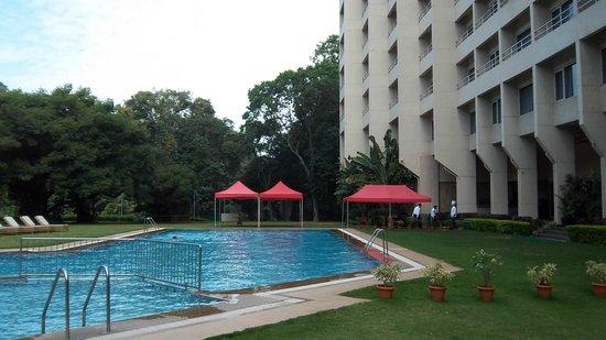 The Lalit Ashok: pool at the back