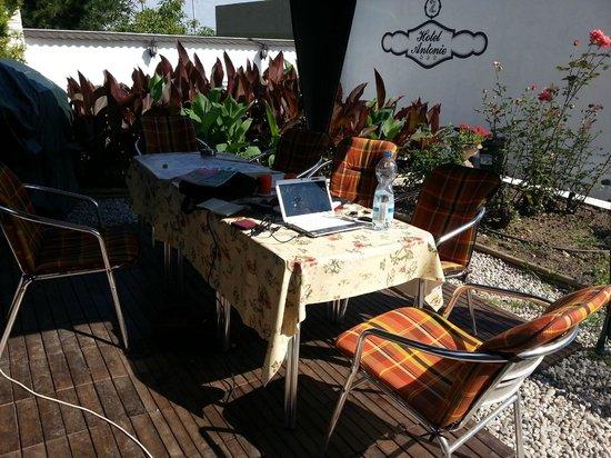 Hotel Antonie: Working in the garden