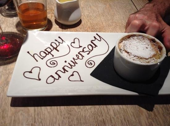 The Westleton Crown: we must have told them when we booked it was our anniversary!nice touch!!