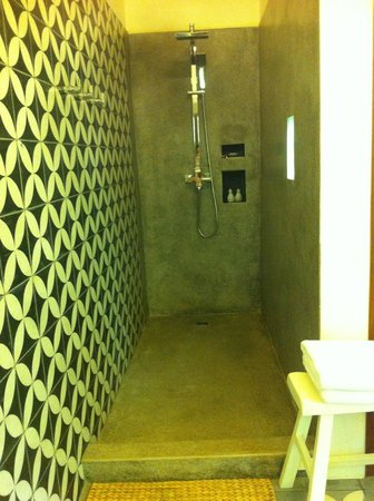 Maison Polanka: Beautiful tiles (Shower area)