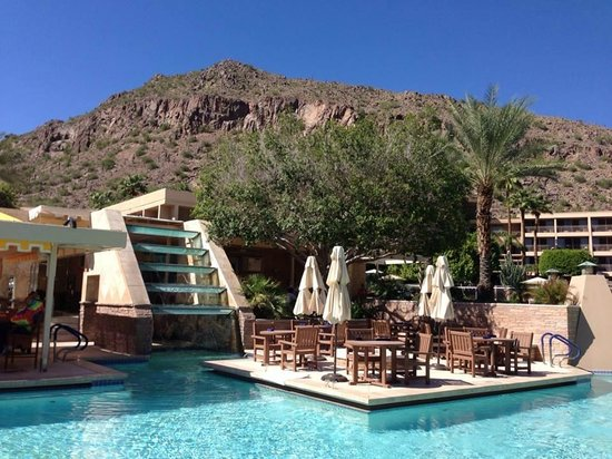 The Phoenician, Scottsdale: View from the pool area at the Oasis