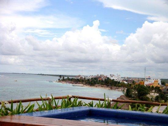 Koox Quinto Sole Boutique Hotel: Vista desde el Jacuzzi