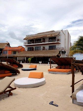 Koox Quinto Sole Boutique Hotel: Foto tomada desde el mar