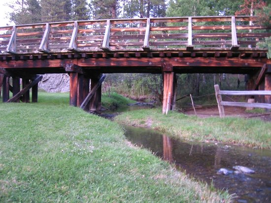 Bridge and stream at Newton Fork Ranch