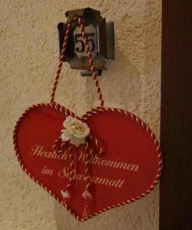Schwarzmatt Hotel : A warm welcome