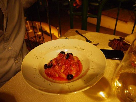 Ristorante Il Porticciolo : cod with tomato sauce