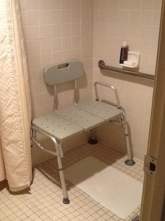 Roll-in shower bench for wheelchair user - Picture of Best Western ...