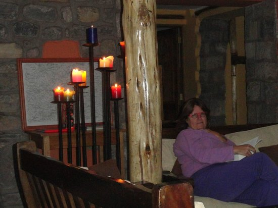 Andean Lodges: Relaxing by the fire!