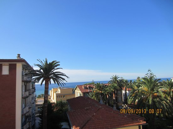 View from the room. - Foto di Hotel Belsoggiorno, Sanremo - TripAdvisor