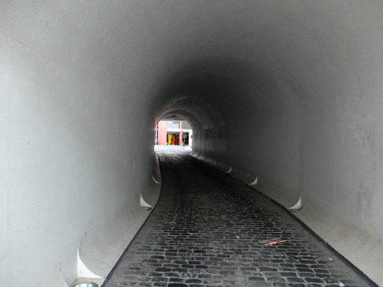 Antillia Aparthotel: Вход в отель через тоннель