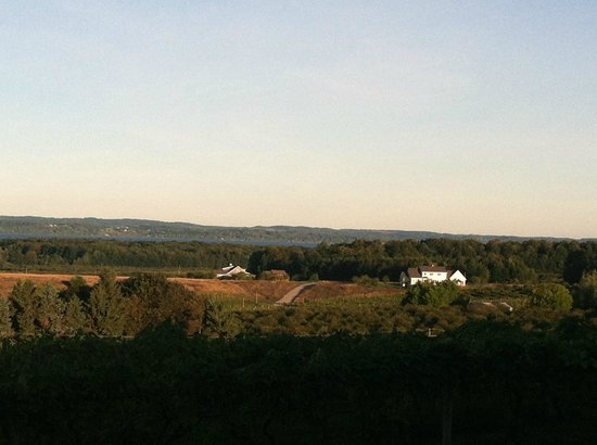 Chateau Chantal Winery and Inn : View from front patio