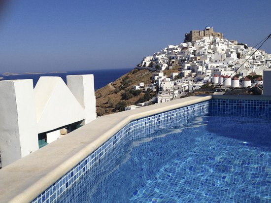 Astypalaia Hotel Palace : View from breakfast/pool area