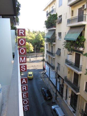Areos Hotel: Vistas desde la habitación 404