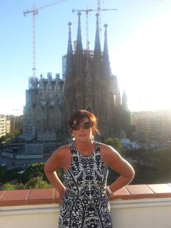 Gaudi's Nest: roof top view stunning ( the wife and the view)