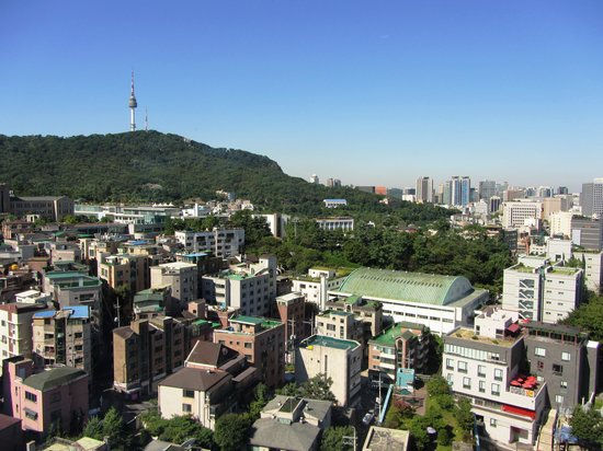 Grand Ambassador Seoul: View from 17th floor.