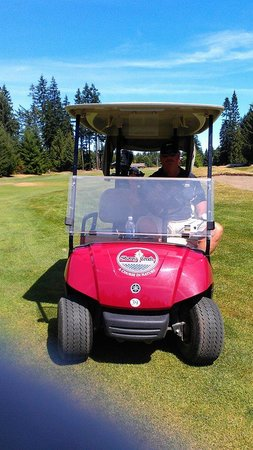 Storey Creek Golf Course: Happy hubby