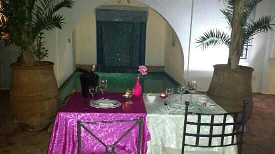 Riad L'Orchidee: diner en amoureux au riad