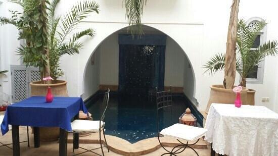 Riad L'Orchidee: la piscine