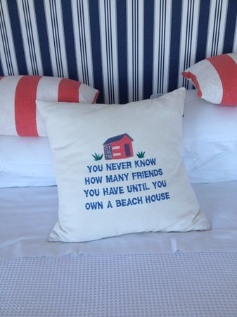 The White Cottages: Pillow on bed
